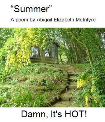 Summer house and laburnum tree
