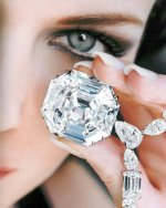 This is the largest Asscher cut D color, flawless diamond in the world. Discovered near the Orange River, the rough stone had 225 carats. It was cut and polished for 9 months by the Graff company's craftsmen into the resulting 100.57 carat stone, to commemorate the launch of Graff USA.