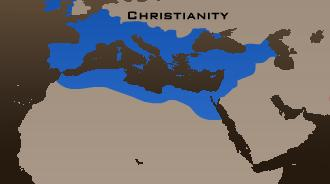 map of christian world 570 A.D.
