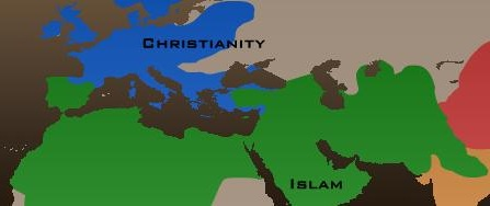map of christian world shortly before the crusades