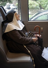 Image result for nun on a bus