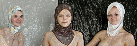 three naked Muslim girls