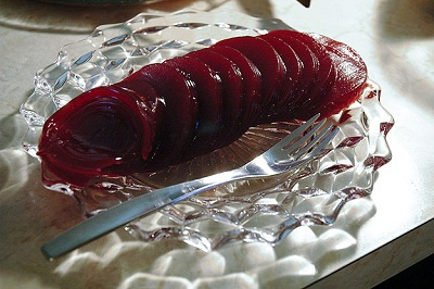 cranberry sauce sliced
