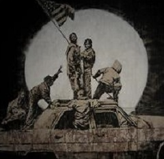 Iwo Jima Ghetto - banksy downtown la los angeles private showing