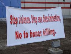 No to honor killing!