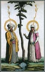 1800 Islamic Adam & Eve