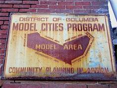 Model Cities Program signage, ca. 1968