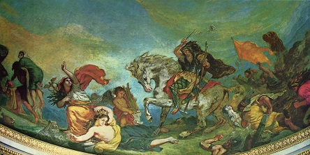eugene delacroix, attila and his hordes overrun italy and the arts 1847