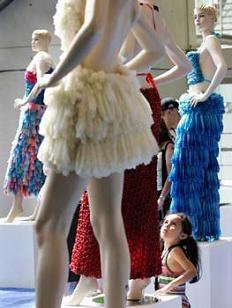 dress made of condoms