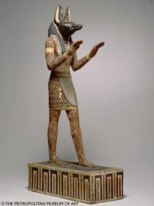 Statuette of the god Anubis - Ptolemaic Period, 304-30 B.C.