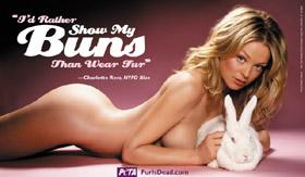 naked for PETA Charlotte Ross