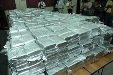 A drug shipment recently seized in a Dominican port