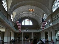 Le hall de l'immigration sur Ellis Island