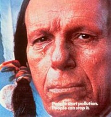 Native American actor Chief Iron Eyes Cody