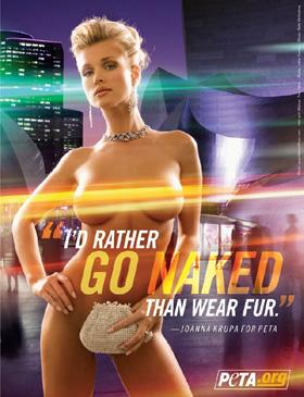 naked for PETA Joanna Krupa