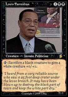 jew-hating racist Louis Farrakhan