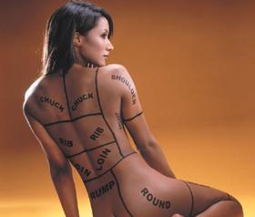 naked for PETA Traci Bingham