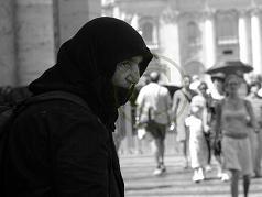 Gypsy begging in Vatican City