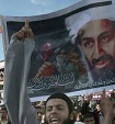Palestinian Sunni Muslim fundamentalists hold up images of Osama bin Laden during a protest in Gaza city on May 7, 2011, denouncing the U.S. Navy SEALs operation in which bin Laden was killed in the city of Abbottabad in northeastern Pakistan on May 2.