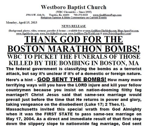 Thank God for the Boston Marathon Bombs