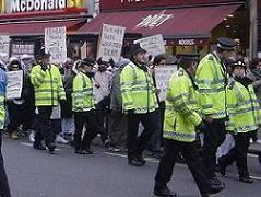 Muslims protesting against Jyllands-Poster and the 'Satanic Cartoons' saga in London