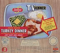 Swanson's TV Dinner packaging, 1954.