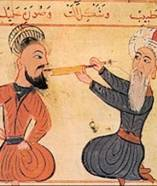 Islamic dentist at work