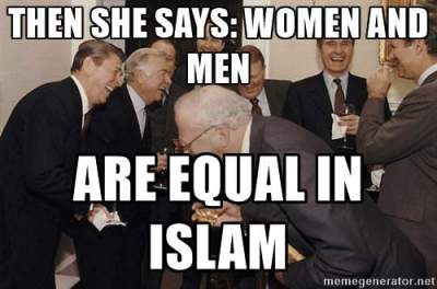women and men are NOT equal in Islam