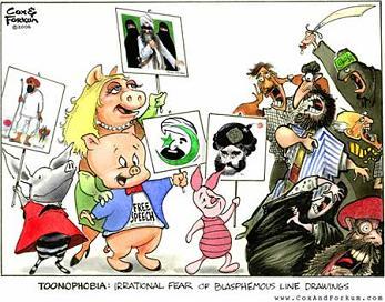 Muslim cartoon blasphemy