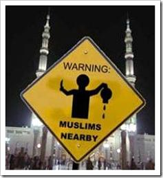 Muslim warning sign