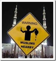 Muslim warning sign