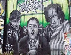 three stooges graffiti