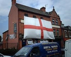 Giant St George's flag