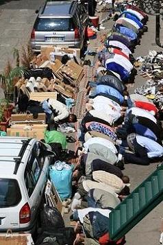 Praying on the street