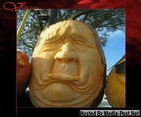Grumpy Pumpkin face Carving