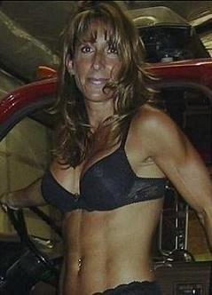 Oregon Mayor Carmen Kontur Gronquist lingerie photos posing on fire truck