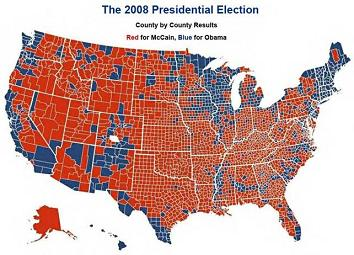 2008 election map