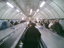 stand on left in escalator