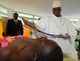 Jammeh's treatment involves the Koran, some herbs, and the administration of a banana. Medical professionals are skeptical.