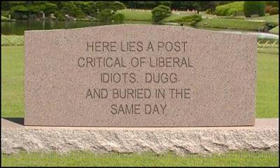 liberal idiots run digg
