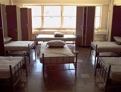 rooms at Fort Dix, N.J., used in 1999 to shelter more than 4,000 ethnic Albanian refugees