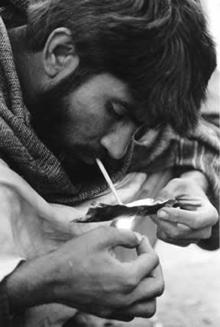 Afghan drug user