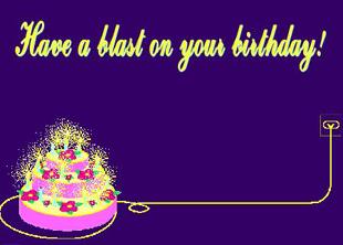 exploding birthday greeting