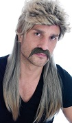Long Blonde Mullet Wig, popular hairstyle from 60s-80s and even modern day, back water towns