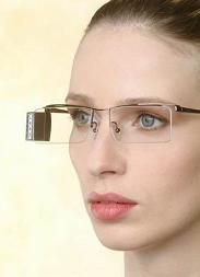 Lumus-Optical's lightweight, fashionable video eyeglasses provide users with a personal high tech video display.
