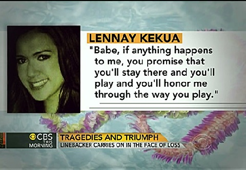 CBS News displayed this photo of Kekua