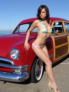 Classic Red 1950 Ford Woodie