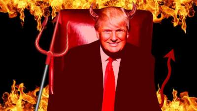 There's a thriving group on Facebook with 12,000 members who say Donald Trump is the son of the devil.