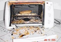 toaster exploding