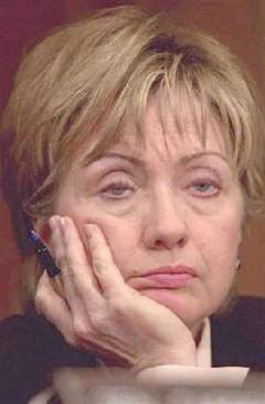 hillary clinton dozing off